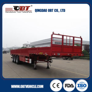 3 Axle 600mm Container Use Sidewall Semi Trailer pictures & photos