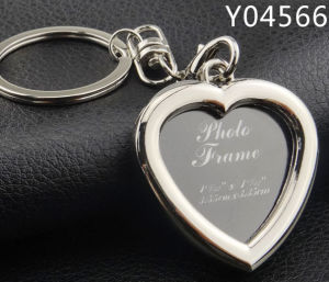 Promotional Gift Metal Blank Keychain with Logo Laser Engraved pictures & photos