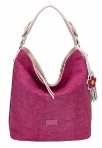New Fashion Ladies PU Match Canvas Shoulder Bag Messenger Hobo Bag Tassel Handbag Purse