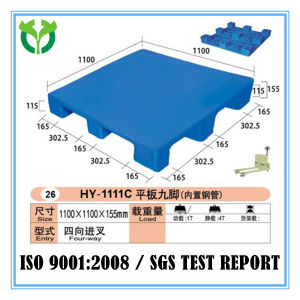 1100*1100 Solid Surface Built-in-Steel Manufacture Plastic Pallet