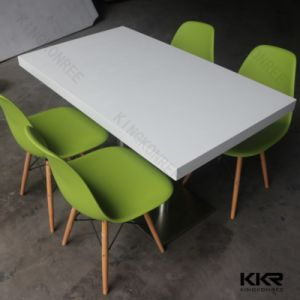 Kingkonree Customized Dining Table Solid Surface Restaurant Table pictures & photos