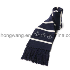 Fashion Winter Warm Knitted Acrylic Jacquard Long Scarf pictures & photos