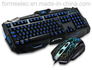 Keyboard Mouse Combo Back Lighting Game Keyboard Mouse Suit pictures & photos