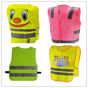 Yellow Velcro Children Safety Hi-Vis Vest with CE pictures & photos