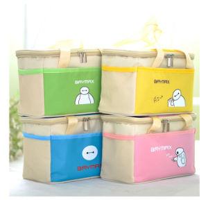 Light Blue Polyester Handle Picnic Box with Zipper pictures & photos