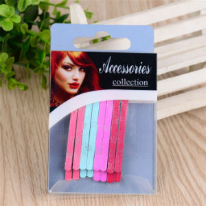 Women Fashion Colorful Painted 6.5cm Metal Hair Bob Pins (JE1006-1) pictures & photos