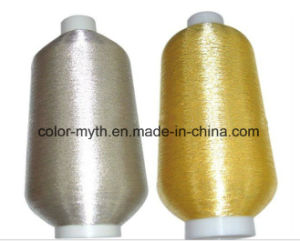 Pure Silver Pure Golden Embroidery Polyester Metallic Yarn pictures & photos
