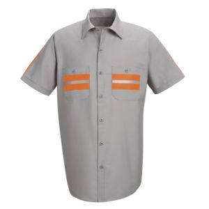 Customized Two Pieces Short Sleeve Work Clothes