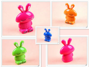 OEM Manufacturer Cartoon Rabbit Dual USB Power Bank Supply (PB-YD22) pictures & photos