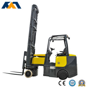 4-Way Narrow Asile Electric Forklift Working in Very Narrow Aisle pictures & photos