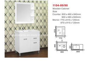 Bathroom Cabinet (NO. 1104-80/90) Assembly Cabinet, Europen Type pictures & photos
