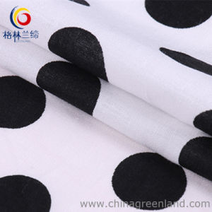 100%Cotton Poplin DOT Printed Fabric for Garment pictures & photos