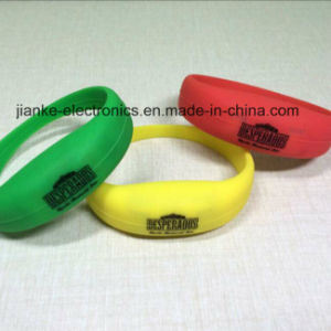 Flashing LED Advertising Logo Bracelet for Promotion Gifts (4010) pictures & photos