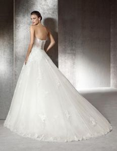 Beaded Lace Bridal Gowns Strapless Tulle Wedding Dress A201729 pictures & photos