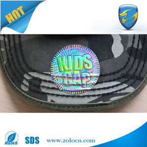 3m Glue Tamper Evident Anti Counterfeit Hologram Sticker for Hat