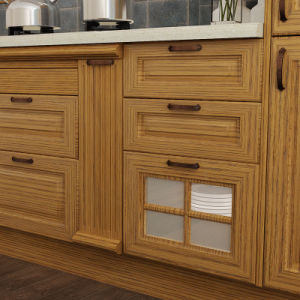 Red Oak Solid Wood Wholesale Modular Kitchen Cabinetry (OP15-S07) pictures & photos