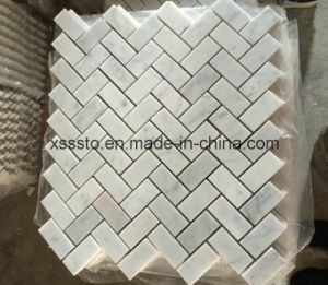 Bianco Carrara White Marble Mosaic Tiles for Bathroom Wall and Floor and Kitchen Backsplash pictures & photos