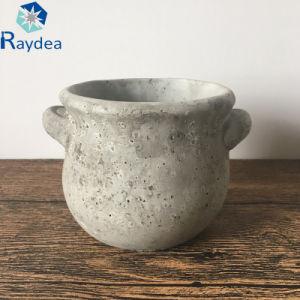 Mini Cheap Round Pattern Cement Pot pictures & photos