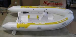 3.8m PVC Tube/Fiberglass Hall Rigid Inflatable Boat pictures & photos