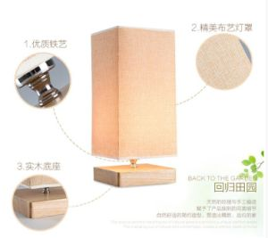 Popular Bedroom Wooden Table Lamp High Quality Cx-Tl06 pictures & photos
