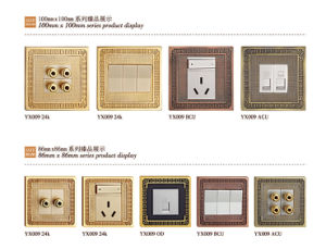 Hot Forged Brass Panel Wall Power Switch (YX009 BCU) pictures & photos