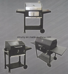 Outdoor Charcoal BBQ Grill with Wheels pictures & photos
