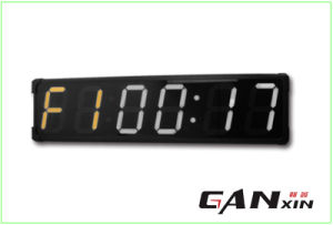 [Ganxin] Popular Design 8 Inch Programmable Digital LED Wall Clock pictures & photos