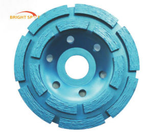 Double Row Diamond Cup Grinding Wheel for Angle Grinder pictures & photos