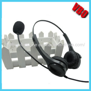 Telephone Headset with Noise Cancelling Microphone for PC pictures & photos