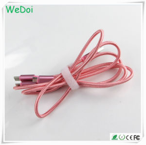 3 in 1 Nylon Brainded USB Data & Charging Cable with OEM Logo (WY-CA24) pictures & photos