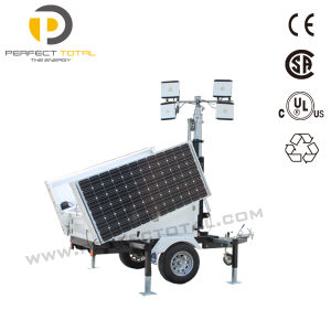100W LED Mobile Solar Tower Light
