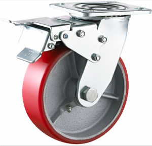 Total Brake Heavy Duty PU Caster pictures & photos