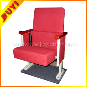 Jy-302s for Sale Room Seat for Home Theater Modern English Movies with Writing Tablet Cinema Chair Used Wooden Cafe Chair pictures & photos