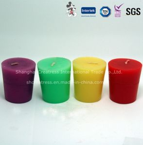 Colorful Wax Votive Candle pictures & photos