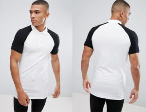 Longline Muscle Polo with Contrast Raglan pictures & photos