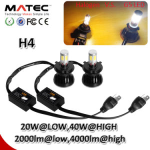 9-36V 80W 8000lm LED COB H4 Headlight pictures & photos