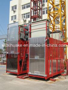 Double Cage Capacity 2000kg Building Hoist (SC200/200) pictures & photos