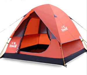 Outdoor 3-4 Person Tent, Double Door Tent, Resistance Storm Camping Tent pictures & photos