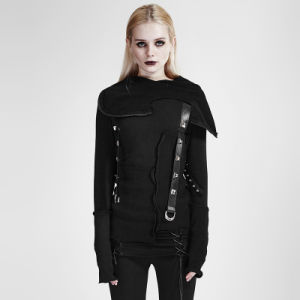 Y-680 Punk Street Decadent Thread Stitching More Layers Knitted Sweater with Hood pictures & photos