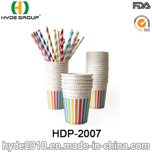 8oz Disposable Hot Coffee Paper Cup for Birthday Party (HDP-2007) pictures & photos