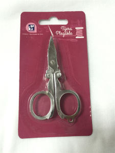 Steel Folding Scissors in Blister Card pictures & photos