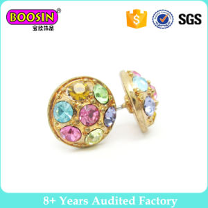 Fashion Jewelry Colorful Stone Stud Earrings for Women Girls pictures & photos