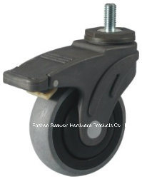 Caster Wheel Conductive Medical TPR Caster (Threaded stem with brake type) pictures & photos