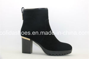 New European Fashion Lady Boots with Fur pictures & photos
