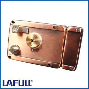 200AC6 Iron Lock Case Brass Cylinder Door Rim Lock pictures & photos