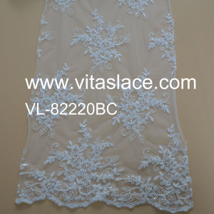 Rayon Factory Wholesale Wedding Lace Fabric Low Price Vl-82220bc pictures & photos