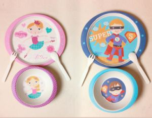 (BC-CS1071) Bamboo Fiber Tableware Set for Kids pictures & photos