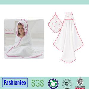 100% Cotton Newborn Muslin Hood Kids Bath Hooded Towel pictures & photos