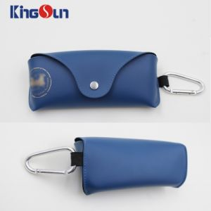 High Quality Sunglasses Case for Women and Men Brand Hard Glasses Case PU Leather Glasses Box with Hook Spectacle Case pictures & photos