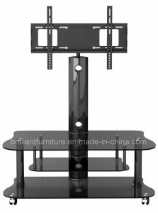 Glass Modern Home Furniture LCD TV Stand with Bracket (BR-TV382B)